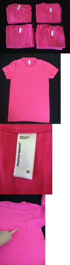 Shirts Tops 50990: Wholesale Lot Of 8 American Apparel Women S 2102 Fine Jersey T-Shirts ~ Pink -> BUY IT NOW ONLY: $47.95 on eBay!