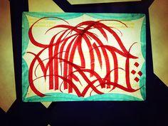 hand lettered sticker #zurich #type #arabic