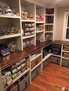 Mind-blowing Kitchen Pantry Design Ideas for Your Inspiration My perfect pantry created by my amazing husband! Thanks for making my dream a reality!My perfect pantry created by my amazing husband! Thanks for making my dream a reality! Kitchen Pantry Design, Diy Kitchen, Kitchen Decor, Kitchen Sinks, Kitchen Layout, Kitchen Pantries, Awesome Kitchen, Kitchen Modern, Kitchen With Pantry