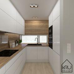 Zakres projektu: kuchnia – 2 wersje KRU Design – Home Decor İdeas Modern Kitchen Design Open, Kitchen Cabinet Design, Kitchen Layout, Kitchen Cupboard, Home Decor Kitchen, Kitchen Interior, Elegant Kitchens, Modern Kitchens, Italian Kitchens