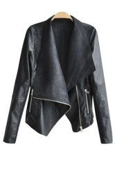 SHARE & Get it FREE | Faux Leather Drape Front JacketFor Fashion Lovers only:80,000+ Items • New Arrivals Daily • Affordable Casual to Chic for Every Occasion Join Sammydress: Get YOUR $50 NOW!