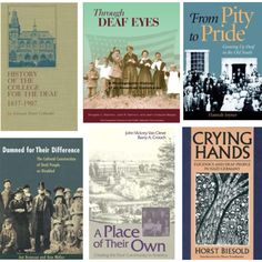 Over 25 pieces of literature on Deaf History linked to Gally Press which has them available for purchase. These are an important part of the interpreter, ASL, Deaf library. Stunning covers, stunning works, and a vital part to the fabric of Deaf Culture and the people which use American Sign Language today.
