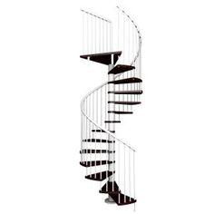 Escalera de caracol de madera, modelo Kubo - Escaleras Enesca.es