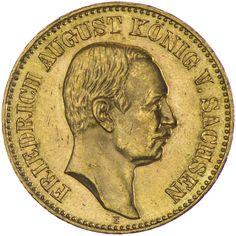 Sachsen, Friedrich August III. 1904 - 1918 20 Mark 1905 E, Gold