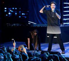Adam Lambert performing at Countdown 2016 in Singapore