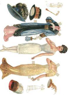 Answer Key For a fuller explanation on how to interpret CST 002 Multi subject questions and essay. Victorian Paper Dolls, Vintage Paper Dolls, Antique Dolls, Vintage Art, Art Nouveau, Belle Epoque, Paper Toys, Paper Crafts, Paper Doll House