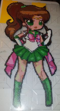 Sailor Jupiter Perler Bead Art by MissTaiko on deviantART