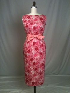 Pink Cotton Pique Cocktail Dress by GreenBowDesigns on Etsy, $225.00 LOVE!!