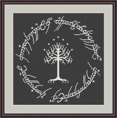 (10) Name: 'Embroidery : Hobbit Cross Stitch Pattern