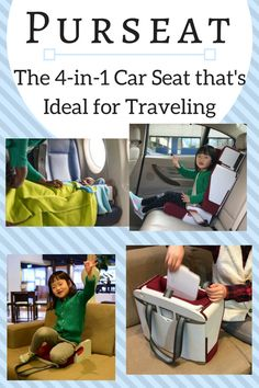 Purseat: The 4-in-1 Car Seat that's Ideal for Traveling