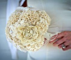 Handmade Vintage Bridal Bouquet Weddings by AutumnandGraceBridal, $165.00