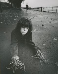 Arthur Tress, who, in the late 1960s and early '70s, asked children to describe their fantasies and nightmares, then immortalizing them in staged photographs.