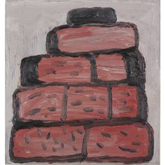philip guston  Untitled (bricks)  oil on panel  26,7 X 25,4  Mckee gallery