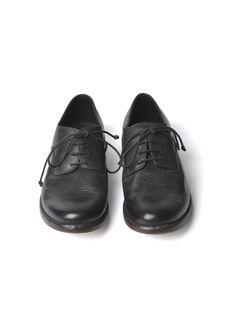 Calf Crust Derby Shoe Black
