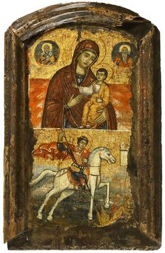 Detailed view: Virgin and Child with St George- exhibited at the Temple Gallery, specialists in Russian icons Byzantine Icons, Byzantine Art, Saint George And The Dragon, Jesus Art, Russian Icons, Best Icons, Religious Art, Religious Symbols, Religion