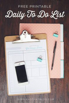 Free Printable Daily To Do List + Tips for a More Productive Day