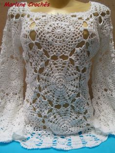 Blusa de Crochê Mangas Longas !!!! ~ Marlene Crochês