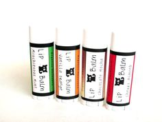 Peppermint spice gives a nice tingle while moisturizing perfectly! ❤ 4 Pack of Lip Balms- Organic .15 oz-- Variety of natural aromatherapy scents Cherry Almond, Mint, Vanilla Orange and Mocha. via Etsy.