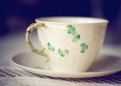 Irish china tea cup