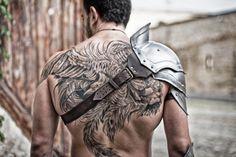 Steel Armor Pauldron Gladiator