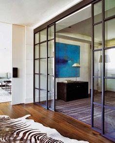 10 interiores con puertas de cristal y marco beautiful interiors with black framed glass doors - interior decorating tips