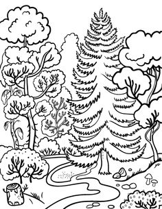 Printable Forest Coloring Page Free PDF Download At Coloringcafe