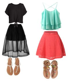 """""""Summer"""" by sharonb331 ❤ liked on Polyvore featuring Simone Rocha, LE3NO, Laidback London, Aéropostale and New Look"""