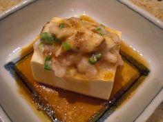 Steamed Tofu Stuffed with Shrimp and Shiitake