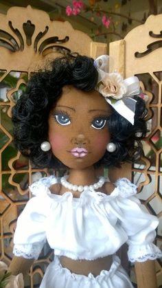 Bonecas de pano.  Negras.  Soraia Flores