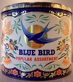 Vintage Bluebird Toffees Tin
