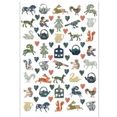 Arts & Crafts Cut Outs Tea Towel from the V Shop.