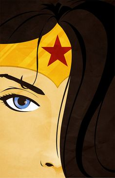 Superhero Series  Wonder Woman Poster Print by felixschlaterprints