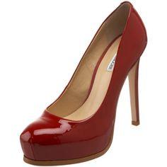 Kelsi Dagger Womens Linzy Platform Pump,Red Patent,8 US