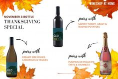 The 3 wines you need for your Thanksgiving table! Ask me about how to get them in time for Turkey day! http://wsah.org/3ccj