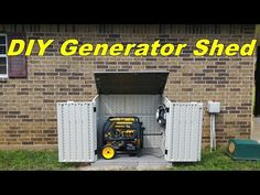 My homemade generator shed made out of the black friday suncast shed. The generator that i'm using is a Predator sold by Harbor Freight which i high.