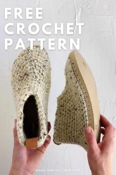 Another flip flop crochet pattern from Make & Do Crew! These chukka-style crochet slipper boots with flip flop soles are pure happiness on your feet! Squishy, non-slip soles + cozy crochet fabric make these your future favorite footwear. And yes, these slippers are durable and will last you a long time! Get the free pattern and detailed photo and video tutorials featuring Lion Brand Wool-Ease Thick & Quick. Crochet Slipper Boots, Crochet Slipper Pattern, Crochet Sandals, Crochet Slippers, Crochet Fabric, Crochet Baby, Knit Crochet, Modern Crochet Patterns, Crochet Designs