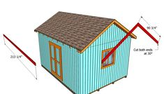 This step by step diy article is about how to build a roof for a shed. Building a roof for a large shed is easy, if you use proper plans and techniques. Shed Plans 12x16, Wood Shed Plans, Diy Shed Plans, Cabin Plans, Building A Shed Roof, Building Ideas, Roof Truss Design, Diy Storage Shed, Run In Shed