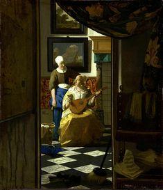 Johannes Vermeer, Vermeer Paintings, Vermeer Artwork, Portrait Paintings, Baroque, Oil On Canvas, Canvas Prints, Painting Words, Places