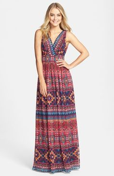 Maggy London Print Chiffon Maxi Dress available at #Nordstrom