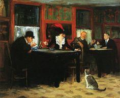 John Sloan (American, 1871-1951)   1909, Chinese Restaurant, oil on canvas 66 x 81.3 cm