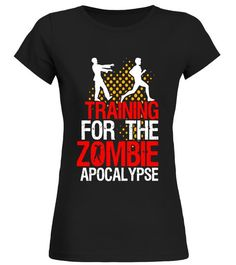 Funny Running Fitness T-shirt Training For Zombie Apocalypse - Limited Edition Round neck T-Shirt Woman Grandparents Funny Running, Running Humor, Running Shirts, Gym Shirts, Running Workouts, Cool T Shirts, Funny Tshirts, Zombie T Shirt, Running For Beginners