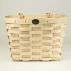 This classic bicycle basket is made by a New Hampshire company that has produced baskets for over 150 years.   Hand made from Appalachian white ash, it would look perfect on my new bike !  From canoeonline.com