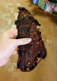 The Virtuous Wife: Homemade Sweet and Hot Beef Jerky Tutorial using chuck steak Carne, Jerkey Recipes, Homemade Beef Jerky, Dry Rub Beef Jerky Recipe, Keto Beef Jerky Recipe, Jerky Seasoning Recipe, Beef Jerky Marinade, Bacon Jerky, Beef Jerkey