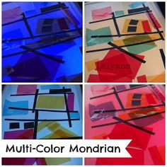 Mondrian for kids with a color light box from Lalymom. Click through for 6 more ways to explore this artist!