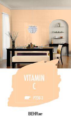 Colorfully, BEHR :: Color of the Month: Winter Whites Orange Paint Colors, Neutral Paint Colors, Orange Walls, Paint Colors For Home, Orange Rooms, Gray Paint, Room Colors, Wall Colors, House Colors