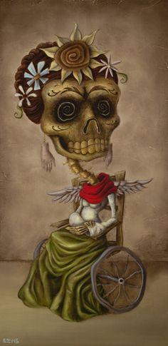 Brandon Maldonado.  My absolute favorite muerto artist.  His depiction of Frida Kahlo.  Breathtaking!