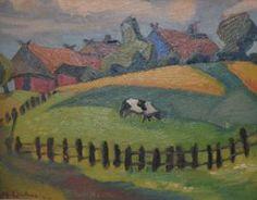 Maggie Laubser ( 1886 - 1973) Wassily Kandinsky, Henri Matisse, Vincent Van Gogh, Paul Signac, Simple Art, Easy Art, South African Artists, Portraits, Old Master