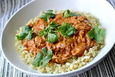 Slow Cooker Butter Chicken that is Whole30 and Paleo friendly while also extremely rich in taste and texture!