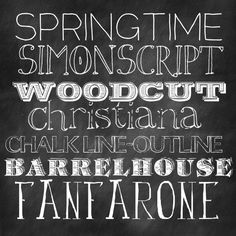 fonts for chalkboard effect