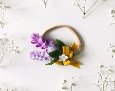 Fieltro flor diadema pelo boda niños foto Prop pensamiento